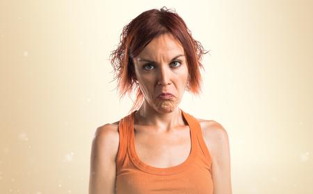 sad: Sad woman