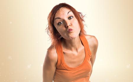 bacio: Donna che trasmette un bacio