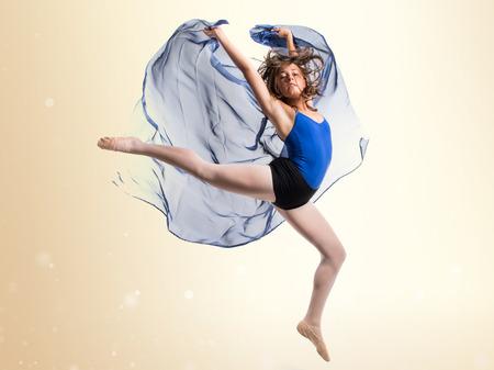 dancer: Young ballet dancer jumping