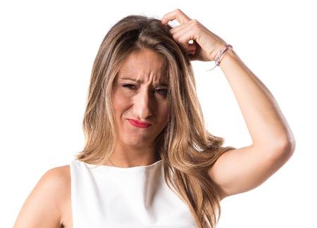 doubts: Woman having doubts Stock Photo