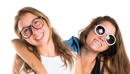 blonde hispanic: Happy friends