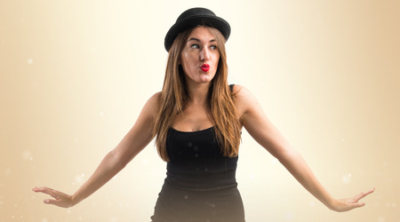 bowler: Woman with bowler hat