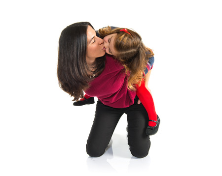 mum and daughter: Mother and daughter together Stock Photo