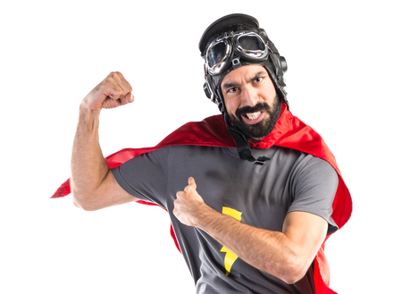 strong: Strong Superhero Stock Photo