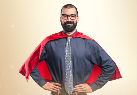 super: Super hero over white