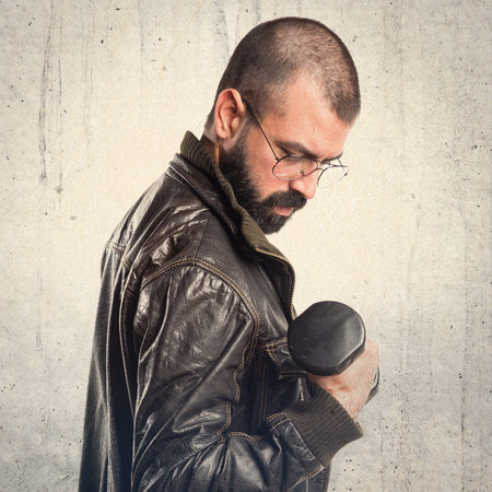 pimp: Pimp man doing weightlifting