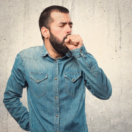 coughing: Man coughing a lot