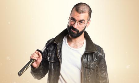 katana: Pimp man with katana Stock Photo