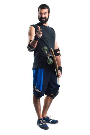 skater: Skater with thumb up
