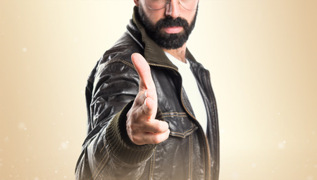 pimp: Pimp man making gun gesture