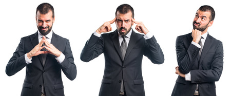 businessman thinking: Businessman thinking