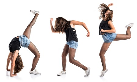 hip hop girl: Teenager hip-hop dancer