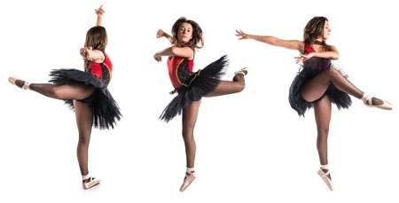 ballerina: Teen girl ballerina dancer in studio