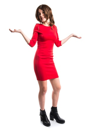 unimportant: Pretty woman making unimportant gesture