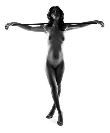tetas: desnudo artístico en blanco y negro