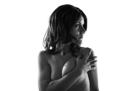 artistic nude: Artistic nude in black and white
