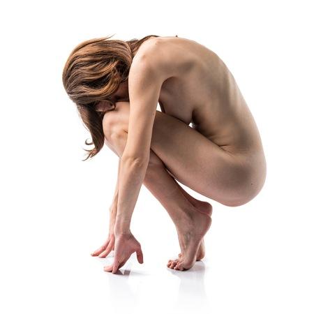 artistic nude: Nude pretty woman Stock Photo
