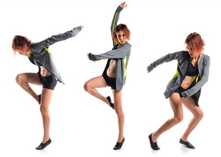 street dance: Woman dancing street dance Stock Photo
