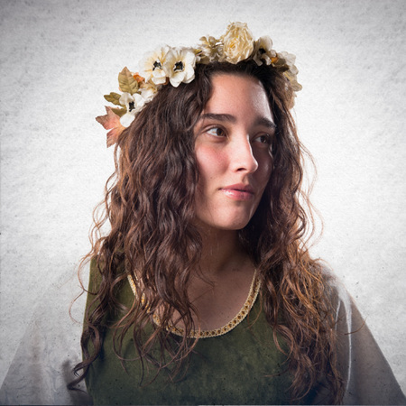 historical periods: Young medieval princess Stock Photo