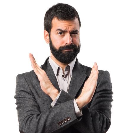 comunicacion no verbal: Hombre que hace el gesto NO