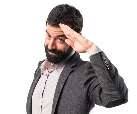 gente saludando: saludando hombre