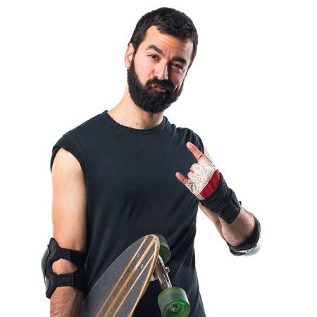 skater: Skater making horn gesture