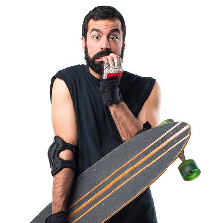 skater: Frightened Skater Stock Photo