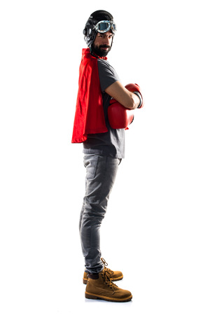 super cross: Superh�roe con guantes de boxeo