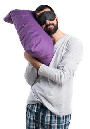 pajamas: Hombre en pijama para dormir