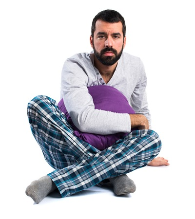 pajamas: Hombre en pijamas