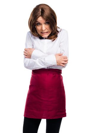 freezing: Waitress freezing