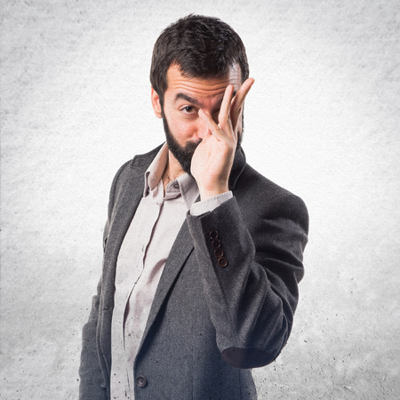 joke: Man making a joke Stock Photo