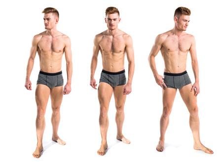 blond nude: Blonde man in underwear