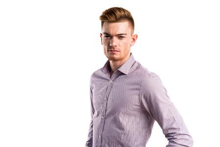 blonde hispanic: Handsome man