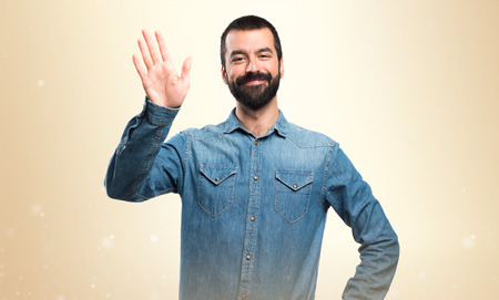 Man saluting Stock Photo