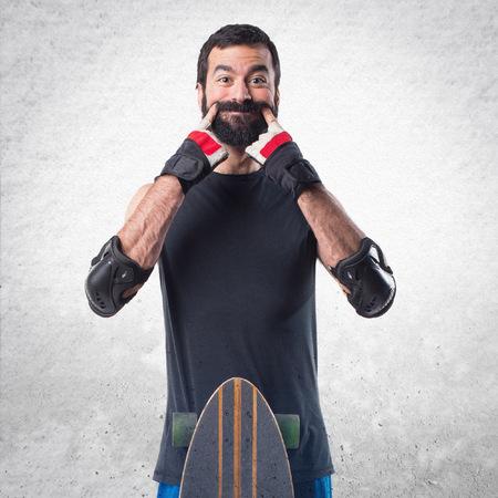 skater: Skater doing happy gesture