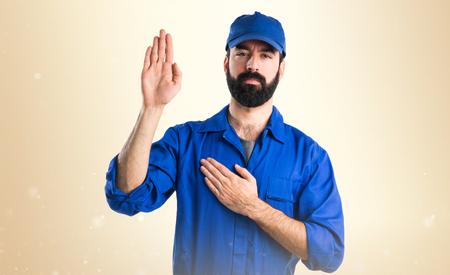 oath: Plumber doing oath