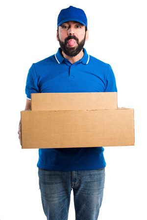 joke: Delivery man doing a joke