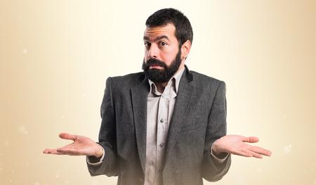 unimportant: Man making unimportant gesture