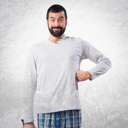 pajamas: Happy Man in pajamas