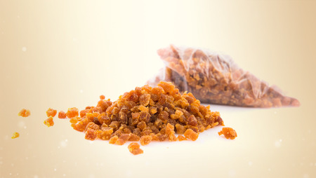 dehydrated: Sweet dehydrated apricot slices Stock Photo