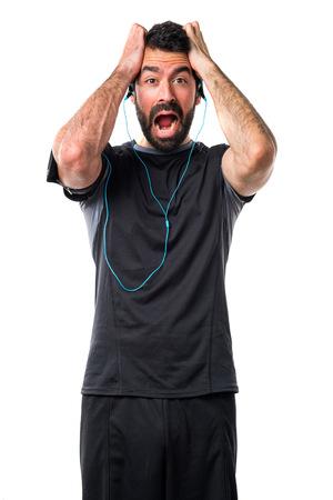 sportman: frustrated sportman Stock Photo