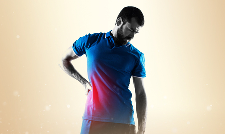 Tennis player with back pain Stock fotó