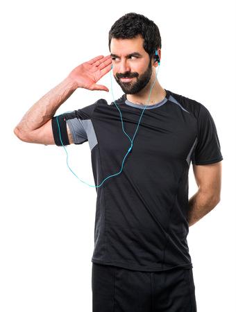 sportman: Sportman listening something