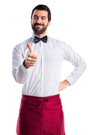 Waiter with thumb up