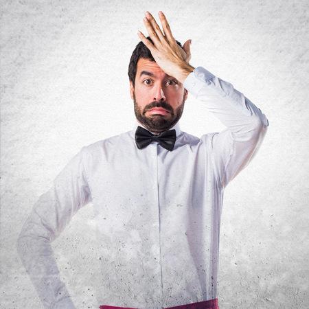 doubts: Waiter having doubts