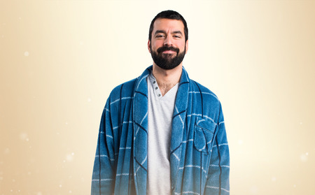 dressing gown: Man in dressing gown Stock Photo