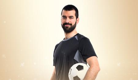blonde hispanic: Football player Stock Photo