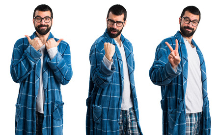 lucky man: Lucky man in dressing gown