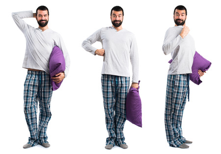 Happy Man in pyjama
